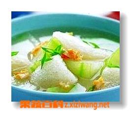 果蔬百科冬瓜金针菇汤